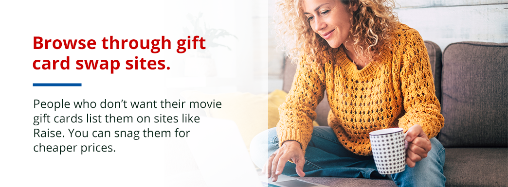 Movie ticket gift cards