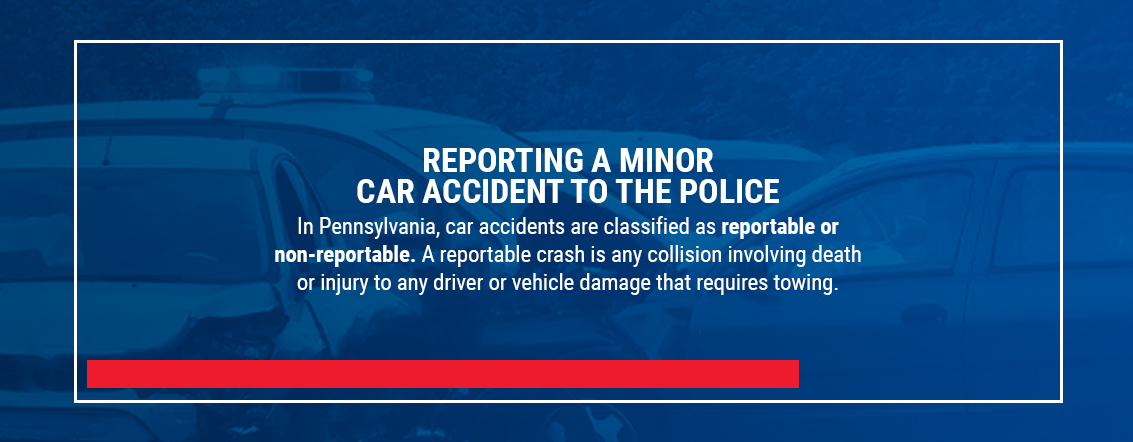 Reporting a minor car accident to the police