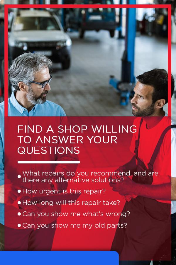 Finding a Repair Shop