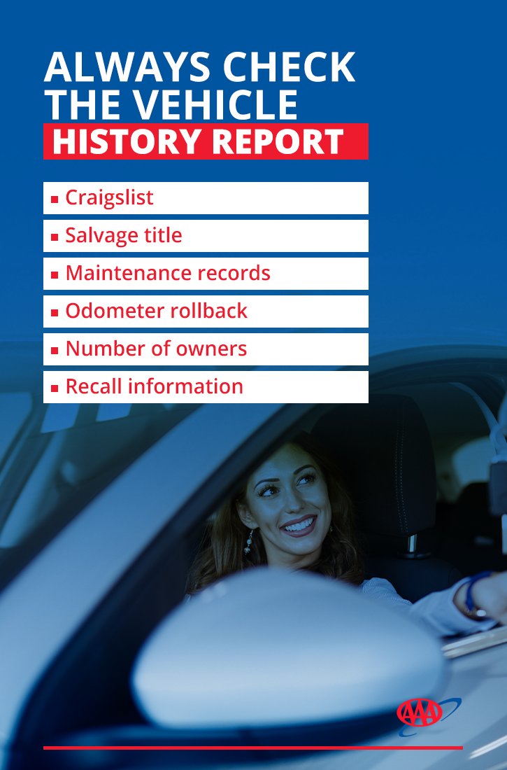 Check vehicle history report