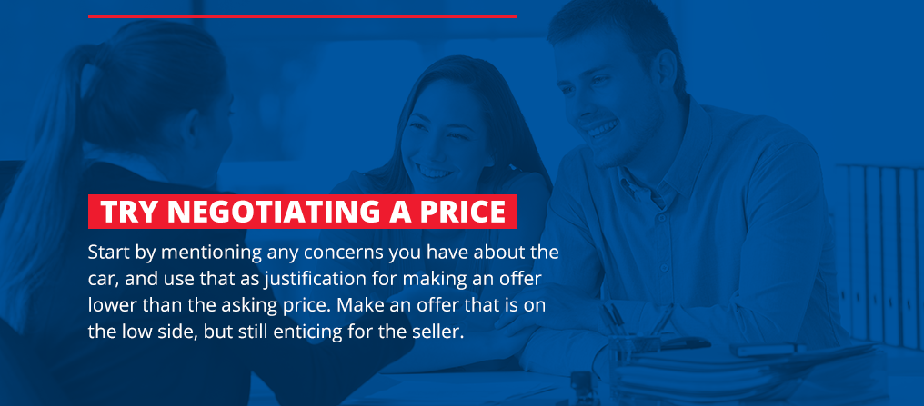 Negotiate a used car price