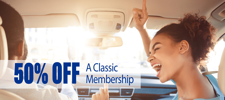 50% Off a Classic Membership