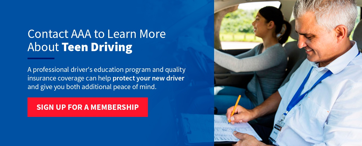Contact AAA to learn more about teen driving
