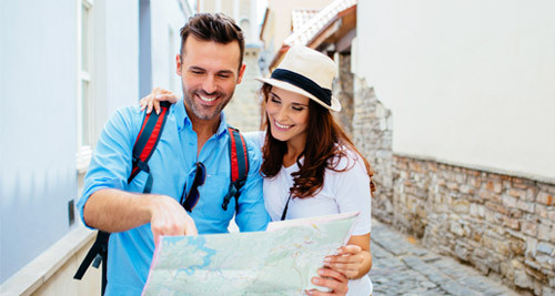 Couple with Travel Map